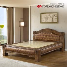 [코리아홈스톤]8200 고재 옥 침대 퀸